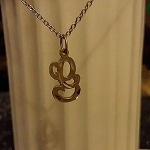 """14K gold """"G"""" pendant"""